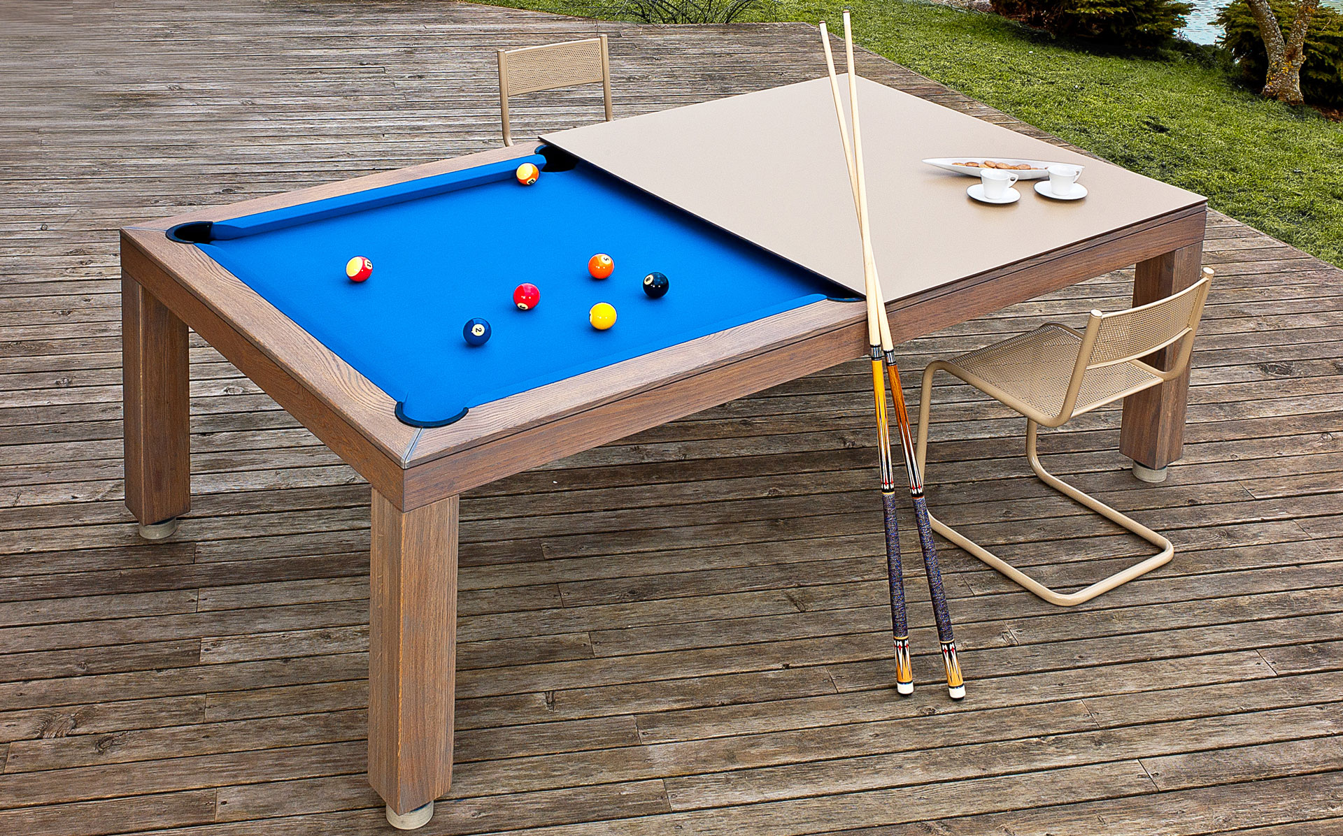 backyard pool table